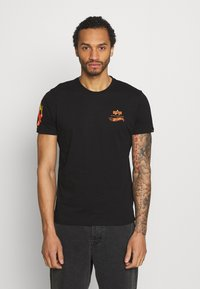 Alpha Industries - FLAME - Print T-shirt - black - 0