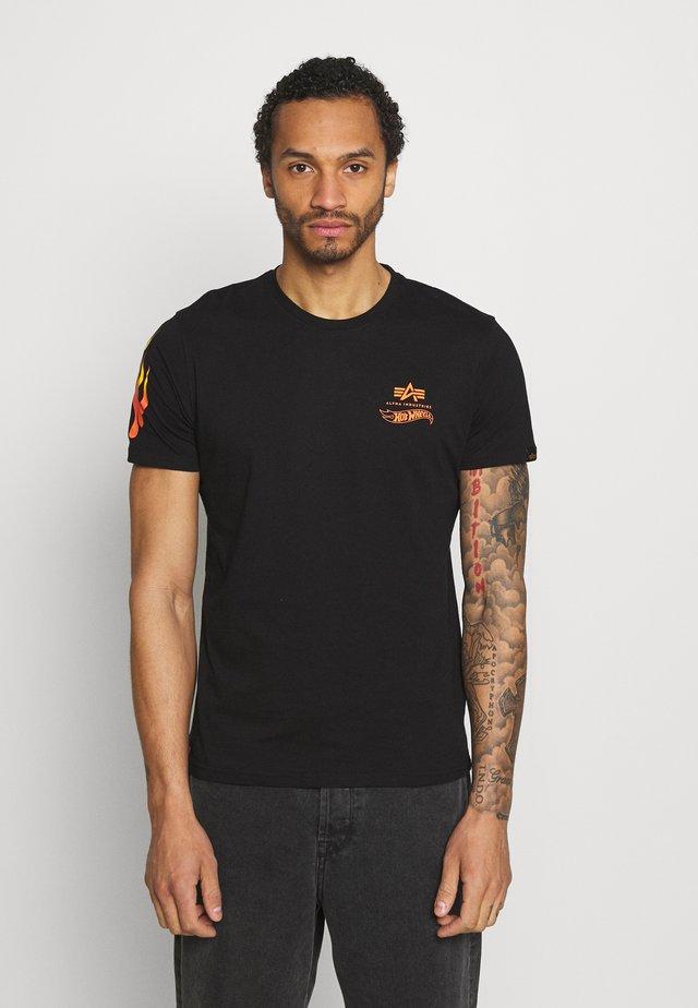 FLAME - Print T-shirt - black
