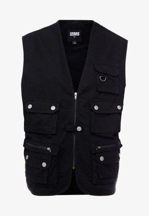 WORKER  - Waistcoat - black