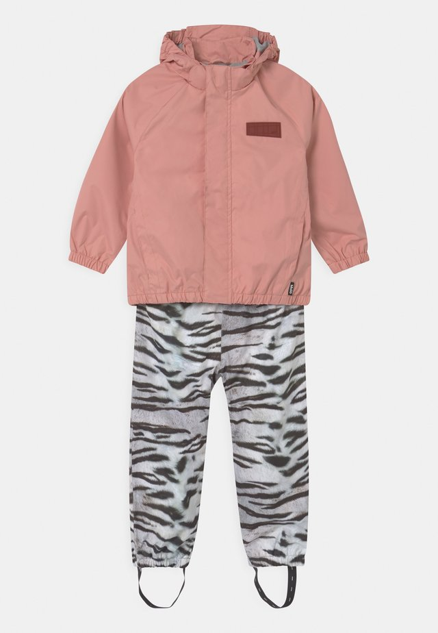 WHALLEY SET - Rain trousers - rosequartz tiger