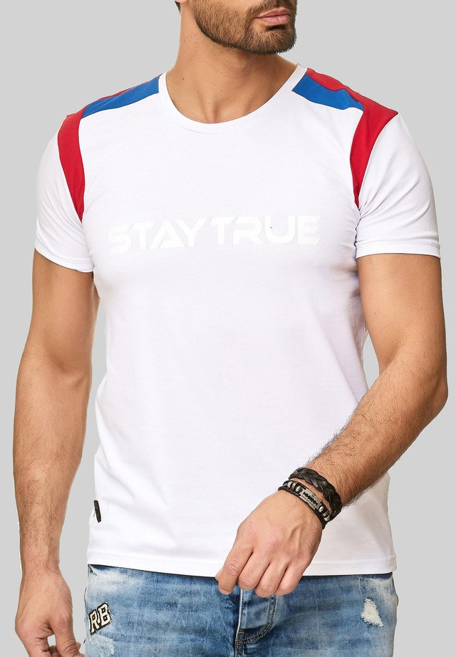 MIT STAY TRUE - Print T-shirt - weiß