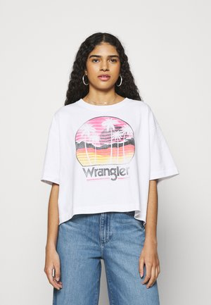 BOXY TEE - T-shirt con stampa - white