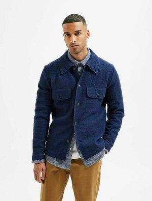 KENTKRAGEN - Fleece jacket - navy blazer