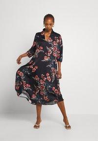 Molly Bracken - LADIES WOVEN DRESS - Maxi dress - dryflowers black - 0