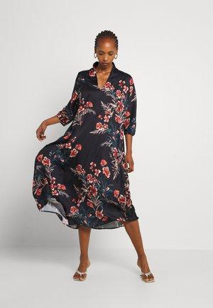 LADIES WOVEN DRESS - Maxi dress - dryflowers black