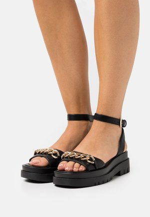 ELISE - Platform sandals - black