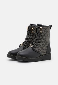MICHAEL Michael Kors - HASKELL - Lace-up ankle boots - black/gold - 1