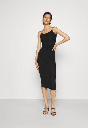 TIE BELT CAMI DRESS - Day dress - black