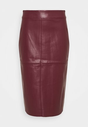 MIDI SKIRT - Kokerrok - purple