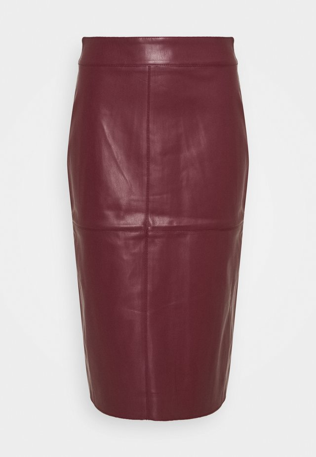 MIDI SKIRT - Gonna a tubino - purple