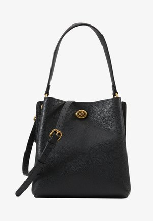 POLISHED PEBBLE CHARLIE BUCKET  - Across body bag - black