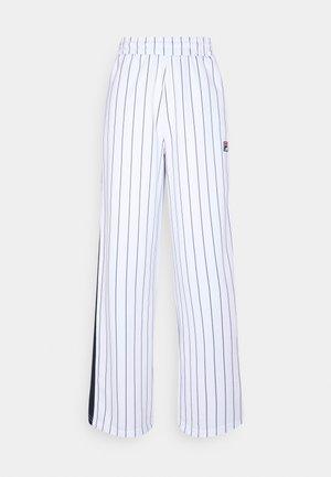 HALA TRACK PANTS - Bukse - blanc de blanc/black iris