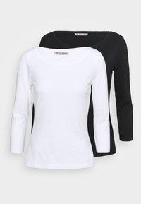 Anna Field - 2 PACK - Top sdlouhým rukávem - white/black - 4