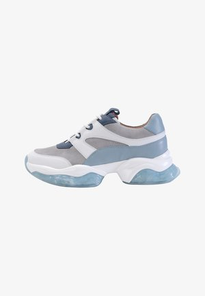 Sneakers laag - light blue, grey, white