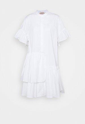 ABITO MORBIDO IN COMFORT - Košilové šaty - bianco ottico
