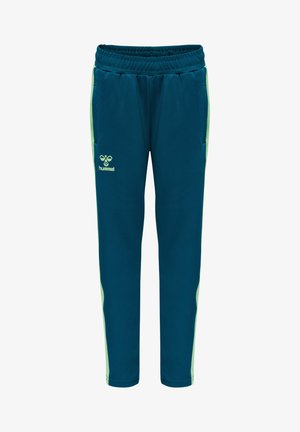 Tracksuit bottoms - blue coral/green ash