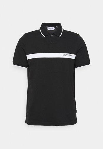BOLD STRIPE LOGO - Polo shirt - black