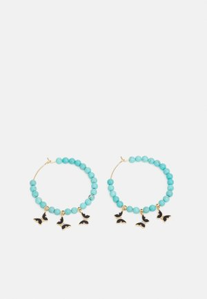 HOOP WITH BUTTERFLY DROPS - Earrings - gold-coloured