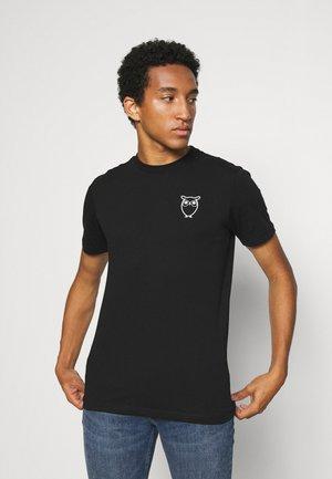 ALDER OWL CHEST TEE - T-shirt print - black jet