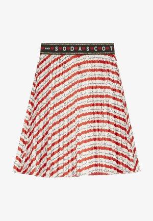 PLEATED PLISSE SKIRT - Áčková sukně - red/off white