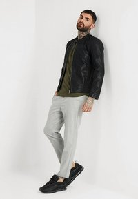 Only & Sons - ONSMIKE RACER JACKET - Giacca in similpelle - black - 1