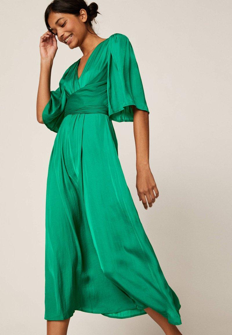 satiniertes - freizeitkleid - green