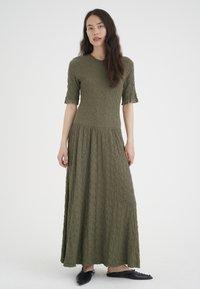 InWear - Maxi dress - beetle green - 0