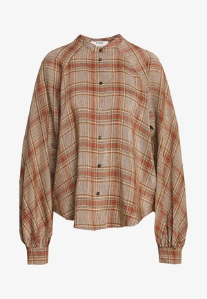 SOLLER - Button-down blouse - brown/red