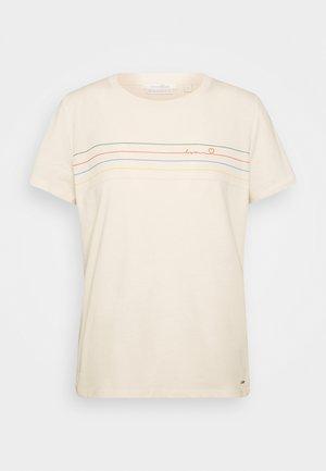 BASIC STRIPE TEE - Print T-shirt - soft creme beige
