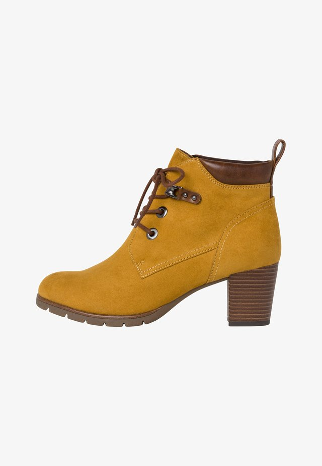Ankle boots - mustard comb