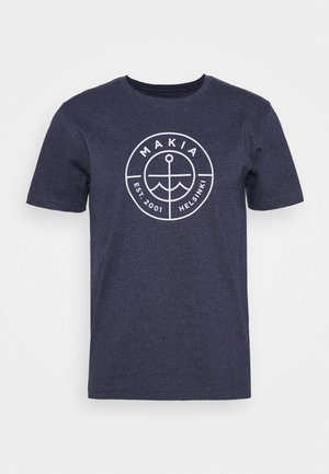 RE SCOPE - Print T-shirt - navy