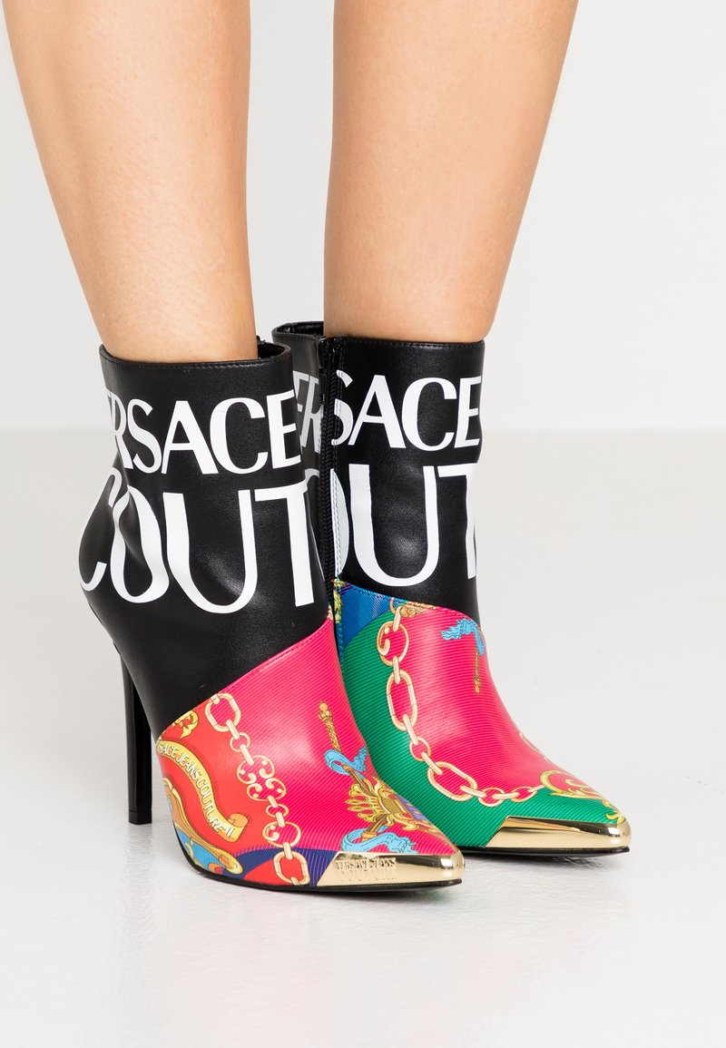 Versace Jeans Couture - HIGHT TOP STILETTO  - High heeled ankle boots - black