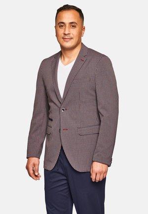 LUCAS  - Blazer jacket - rot-blau-kariert