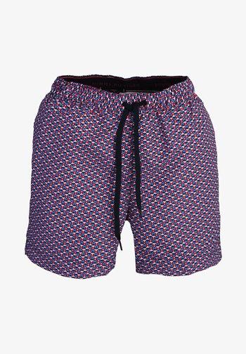 MIT TUNNELZUG MUSTER ROT - Swimming shorts - orange - rot
