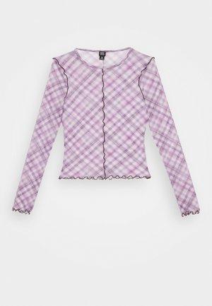 CHECK LETTUCE  - Blouse - lilac