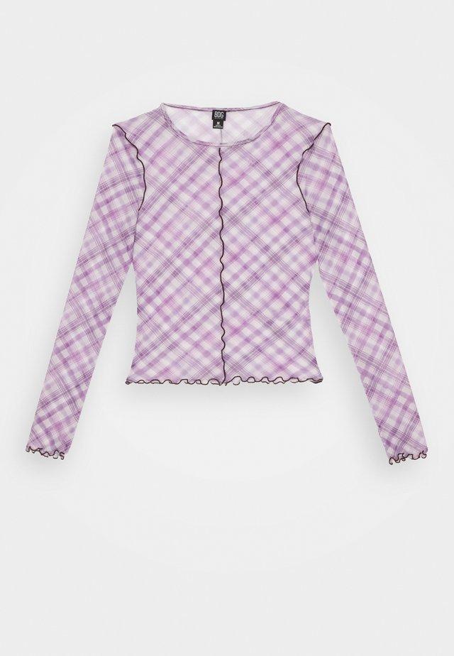 CHECK LETTUCE  - Bluser - lilac