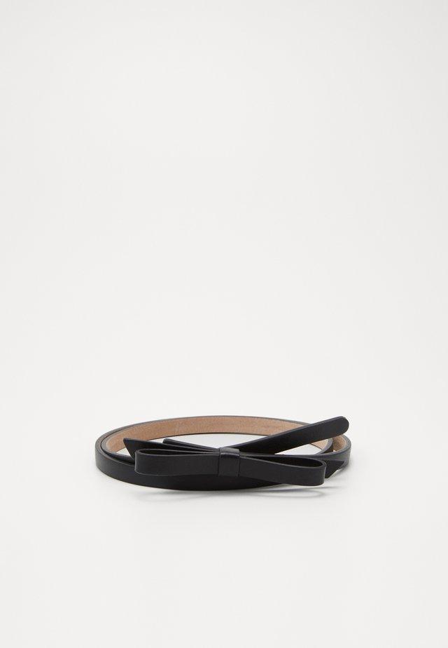 SANDIE BOW SKINNY BELT - Belte - black