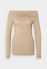 Vero Moda - VMPANDA OFF SHOULDER - Long sleeved top - silver mink - 3