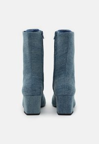 Monki - VEGAN THELMA BOOT - Lace-up ankle boots - blue denim - 3