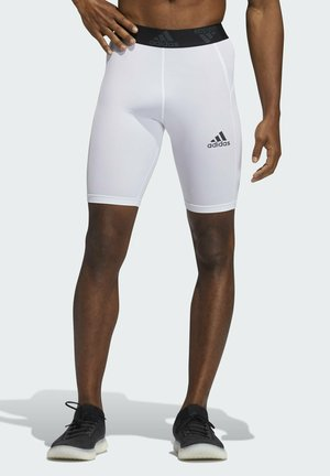 TURF TIGHT PRIMEGREEN TECHFIT WORKOUT COMPRESSION SHORT LEGGINGS - Pantalón corto de deporte - white