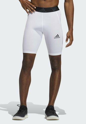 TURF TIGHT PRIMEGREEN TECHFIT WORKOUT COMPRESSION SHORT LEGGINGS - Pantalón corto de deporte - white