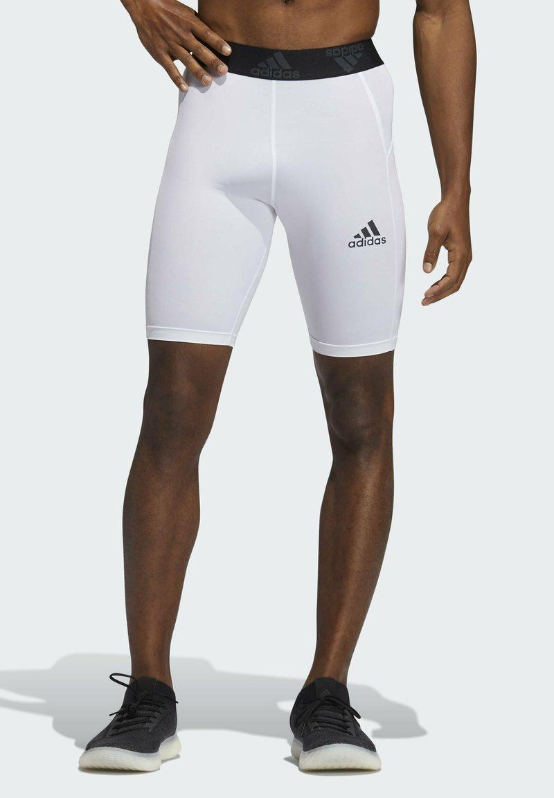 adidas Performance - TURF TIGHT PRIMEGREEN TECHFIT WORKOUT COMPRESSION SHORT LEGGINGS - Sports shorts - white