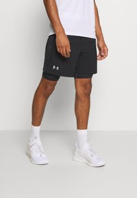 Under Armour - LAUNCH 2-IN-1 SHORT - kurze Sporthose - black - 0