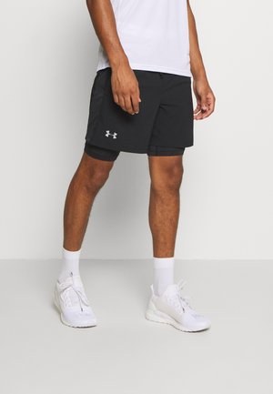 LAUNCH 2-IN-1 SHORT - Träningsshorts - black