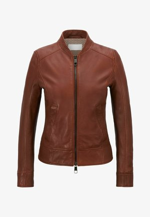C_SAMEGGY - Leather jacket - brown