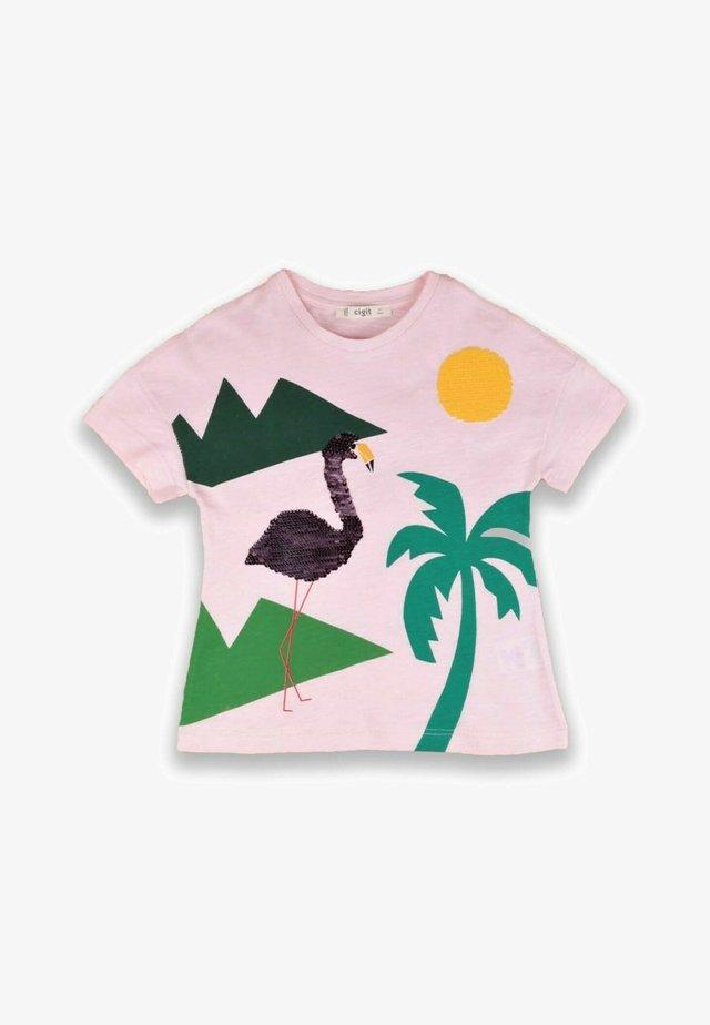 FLAMINGO EMBROIDERED - T-shirt print - light pink