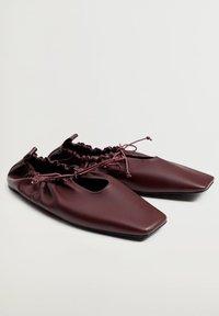 Violeta by Mango - RUFFLE - Ballet pumps - bordeaux - 2