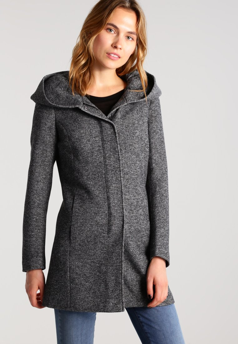 ONLY - ONLSEDONA - Short coat - dark grey melange