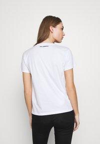 KARL LAGERFELD - CIRCLE LOGO - Print T-shirt - white - 2