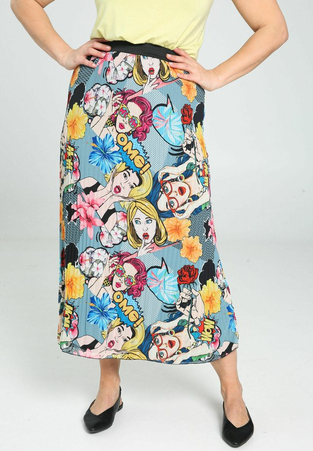 WITH A POP ART PRINT - A-line skirt - multicolor